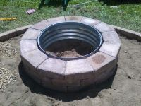 Galvanized and Brick Fire Pit Ring   Galvanized Fire Pit ...