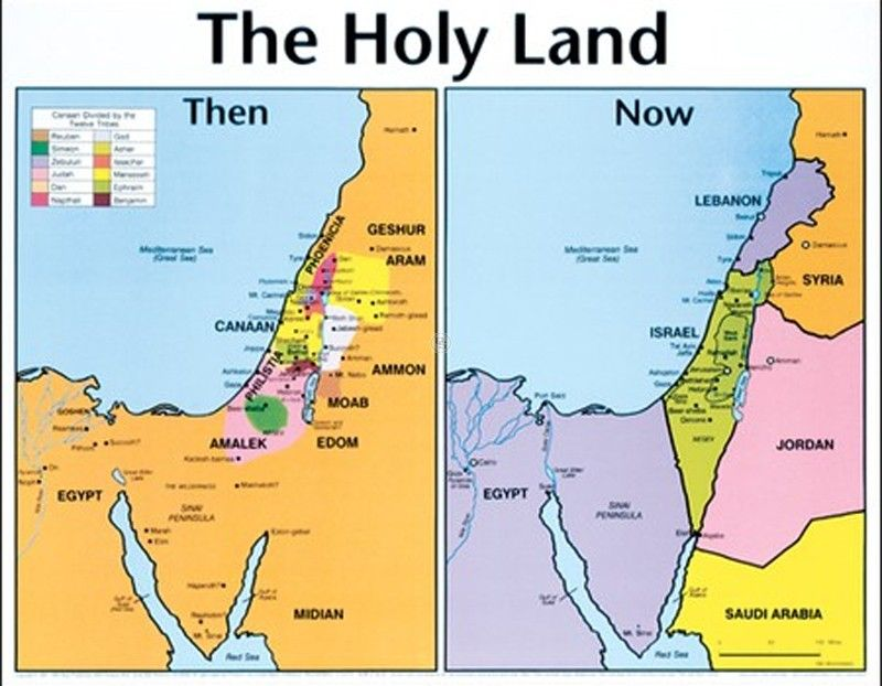 Today Lands Bible Map