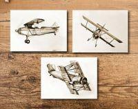 Vintage Airplane Silhouette Antique Print Plane Wall Art ...