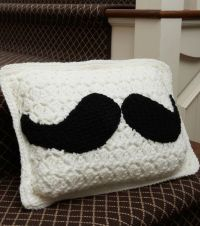 This mustache pillow is so fun!   Crochet with JOANN ...