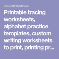 Printable tracing worksheets, alphabet practice templates ...