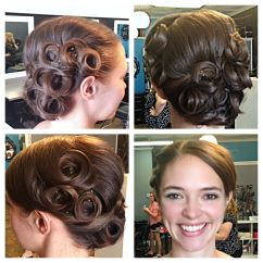 Vintage Pin Curls Diagram 220 3 Wire Curl Updo Hair By Talie Pinterest