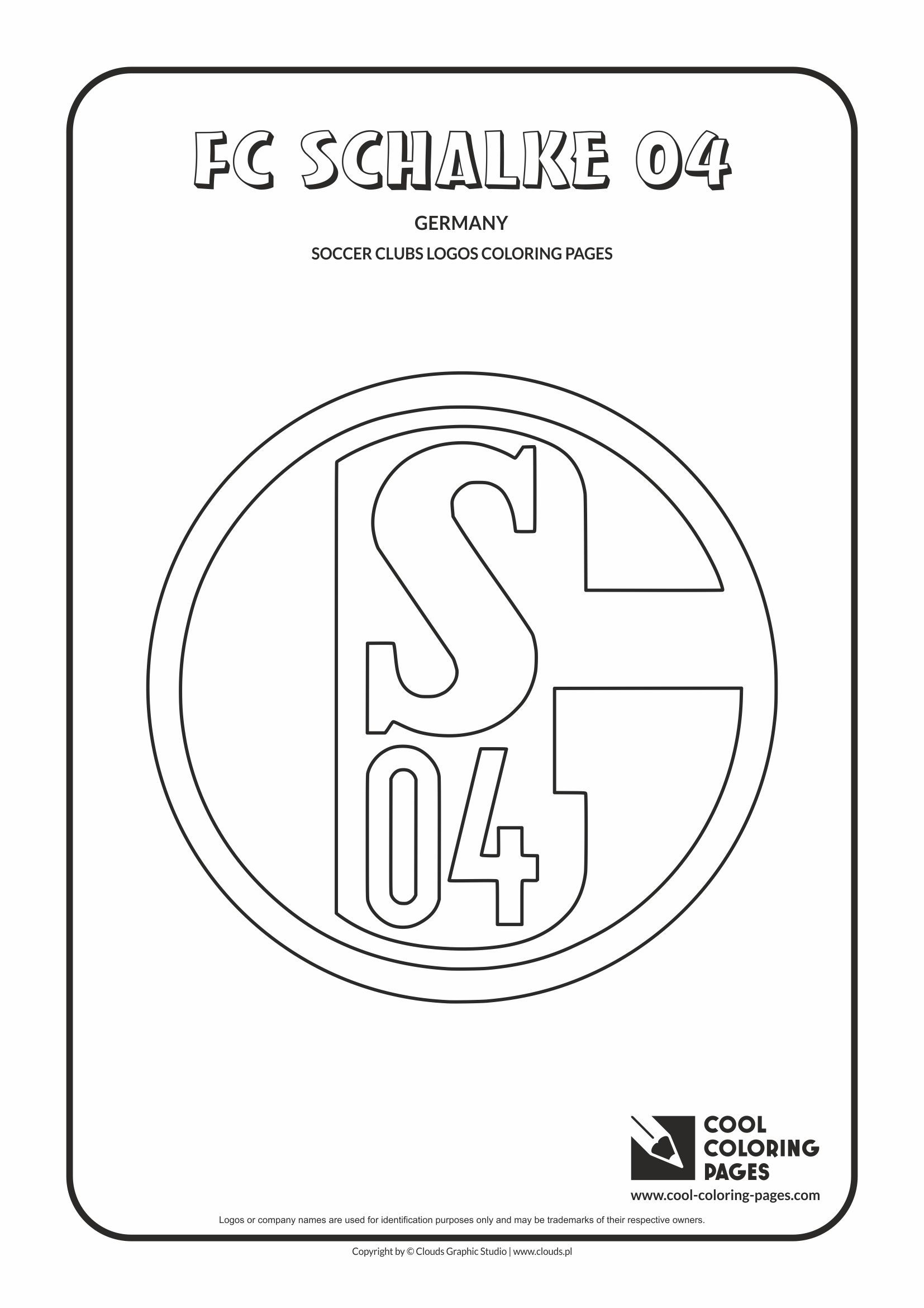 FC Schalke 04 logo coloring / Coloring page with FC
