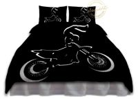 Dirt Bike Bedding for Boys - Duvet Cover Motocross, Black ...