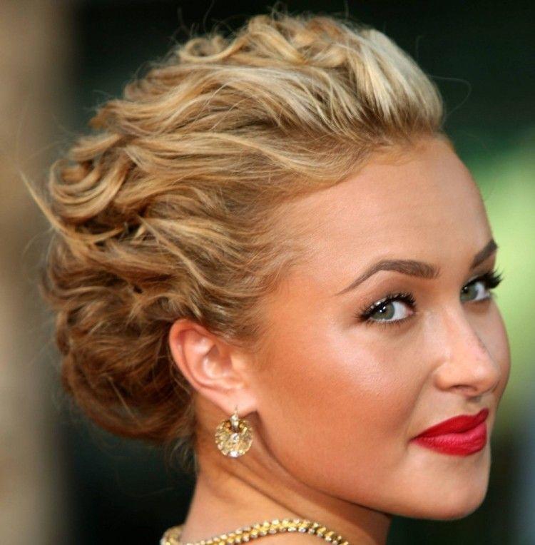 Steckfrisur Für Mittellanges Haar Von Hayden Panettiere Frisur
