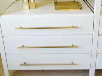 """European Round Brass - 17-5/8"""" Drawer Pull - Cabinet ..."""