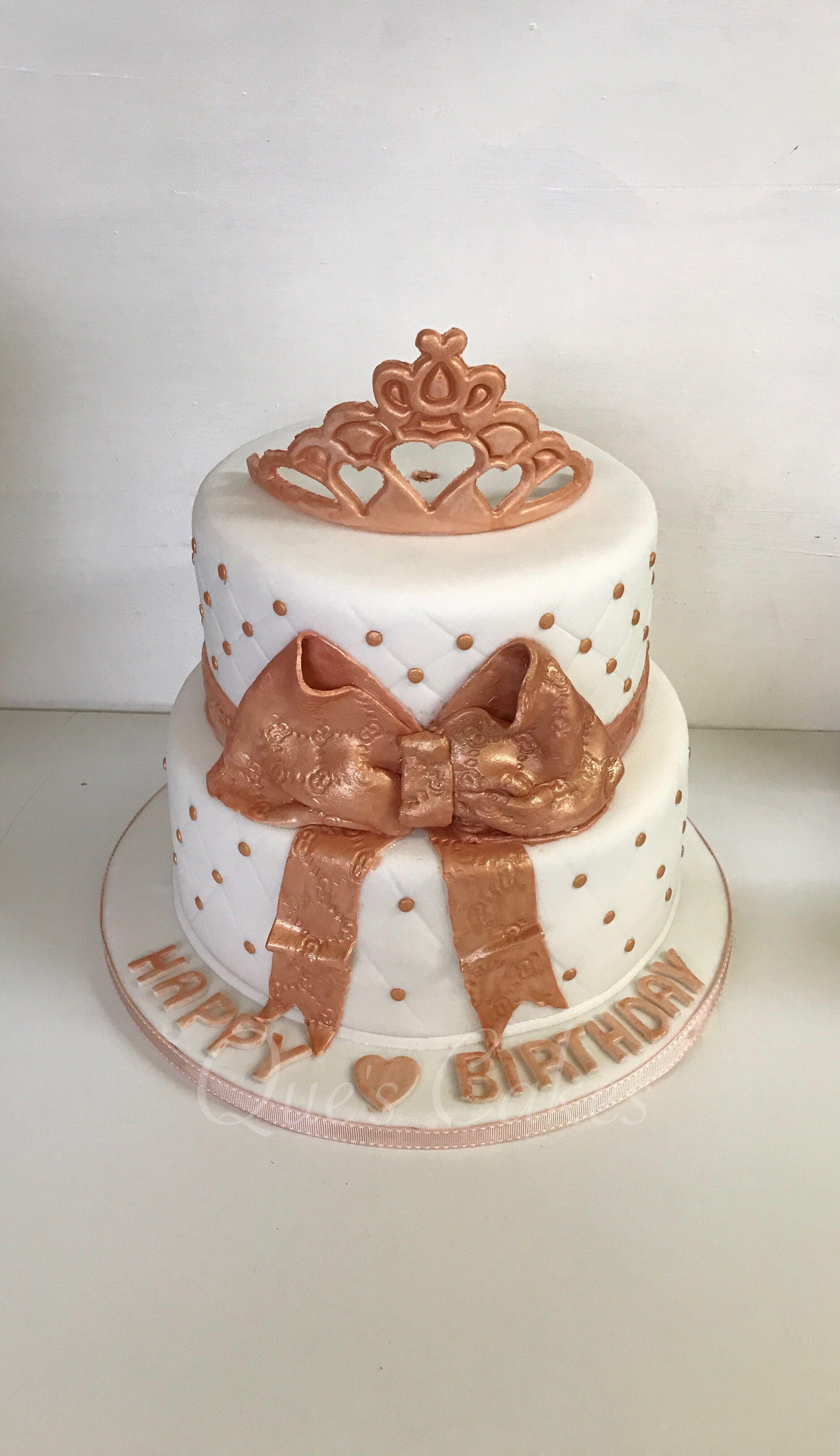 Rose Gold Cake Birthday Cake