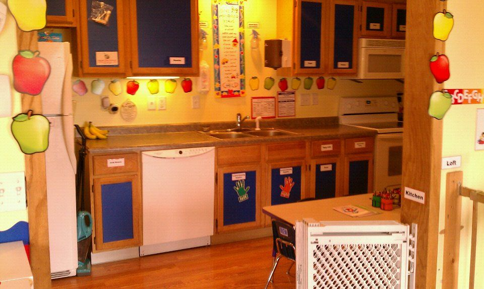 daycare kitchen  Daycare setup  Pinterest  Best