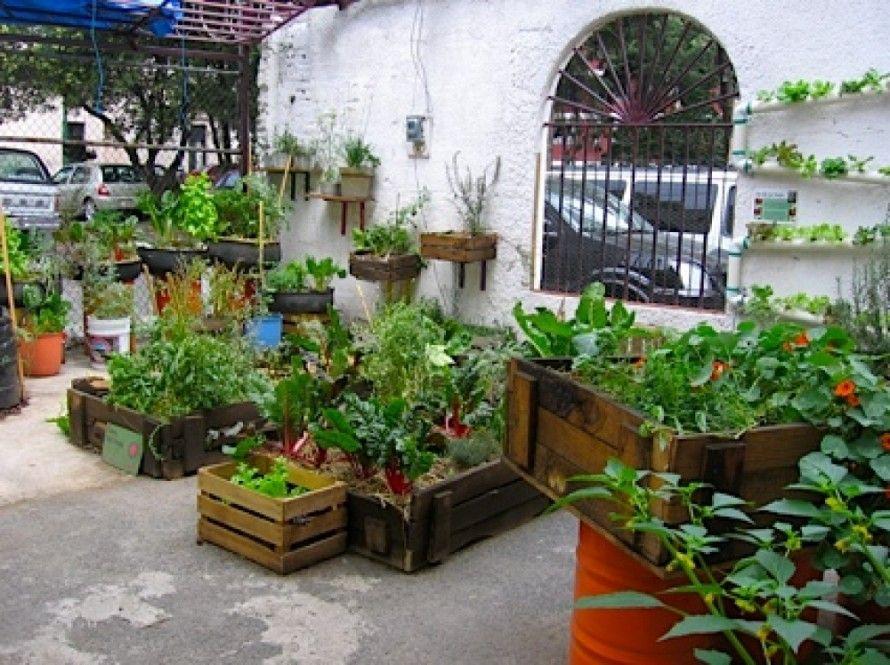 Modern Urban Garden With The Striking Concrete Element Urban
