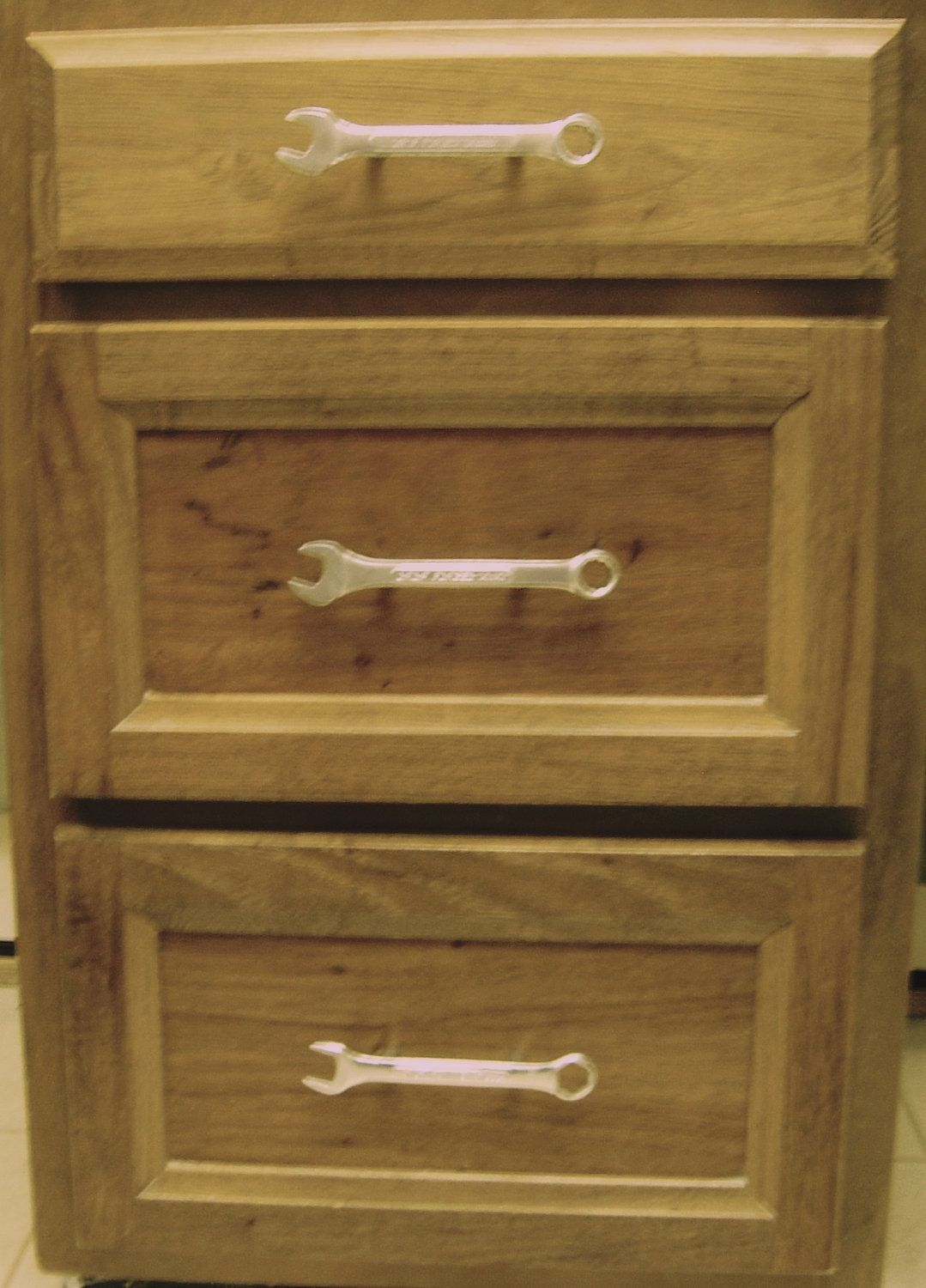 cheap kitchen knobs and pulls makeover sweepstakes 6 man cave drawer cabinet made from real wrenches