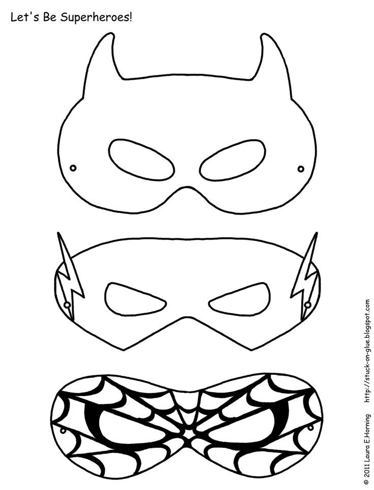 Superhero activities: FREE superhero masks to color
