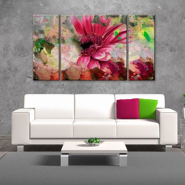 Ready hangart  painted petals lxiv piece canvas wall art set kwd also rh pinterest