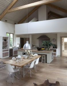 House also much bigger space than ours but  like how  modern kitchen has rh pinterest