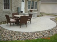 love the stone surrounding the Concrete Patio | Gardening ...