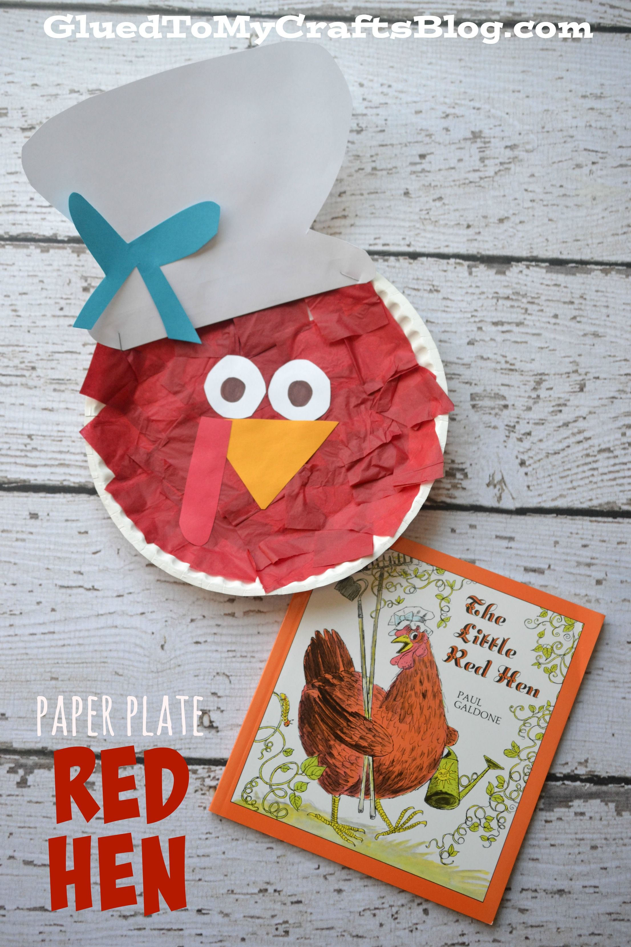 Paper Plate Little Red Hen Kid Craft