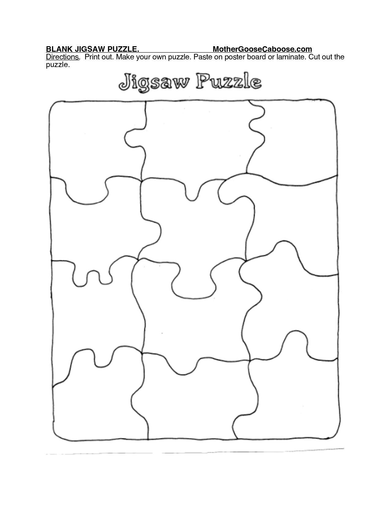 Printable Puzzle Piece Template
