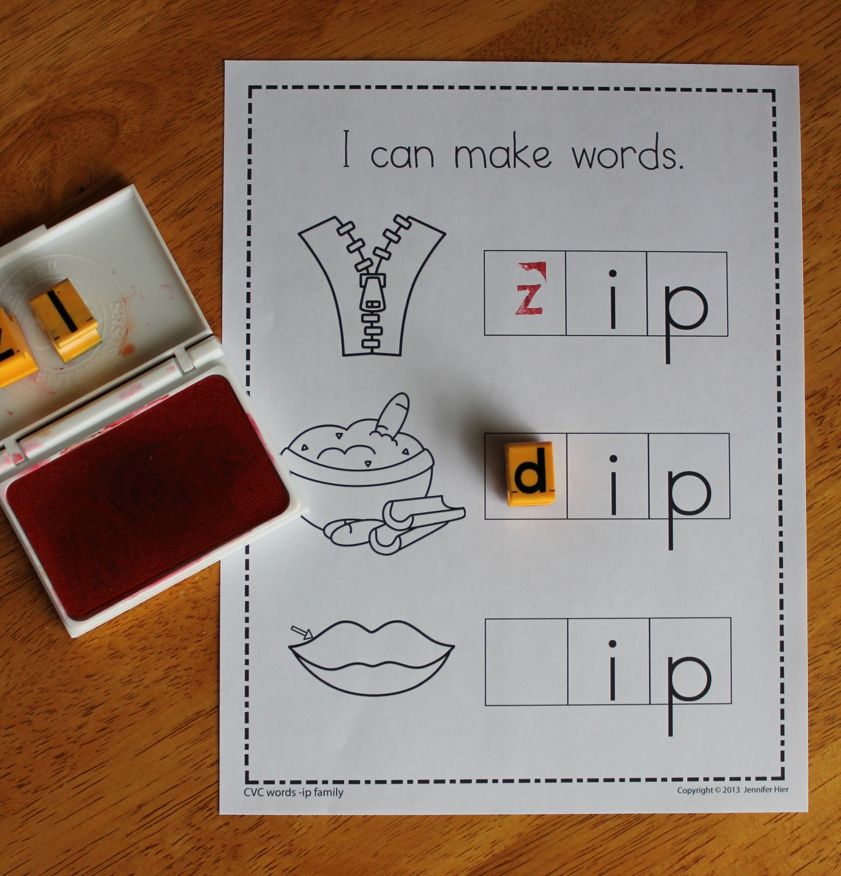 Cvc Beginning Sound Make A Word Worksheets