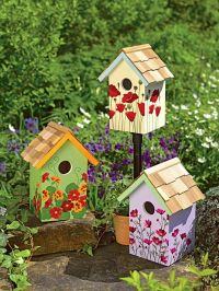 cute birdhouse paint ideas (16) | casitas de pjaros ...
