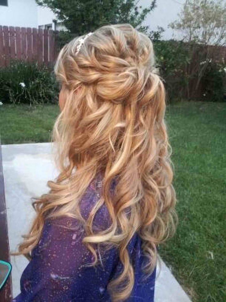 Braided Hairstyle For Wedding Hairstyles Long Curly Hair Half Up