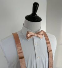 NEW Rose Gold Bowtie and Suspenders. Teen Youth by ...