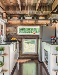 This tiny house has the most stunning farmhouse kitchen also rh pinterest