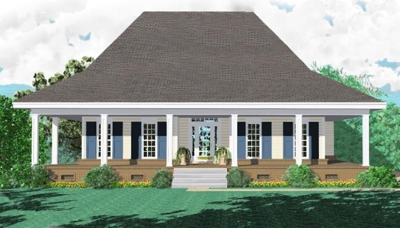 3 Bedroom 2 Bath Southern Style House Plan With