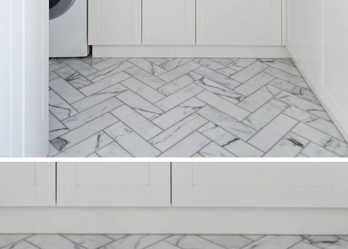examples of tile flooring with geometric patterns creating  herringbone  also cz