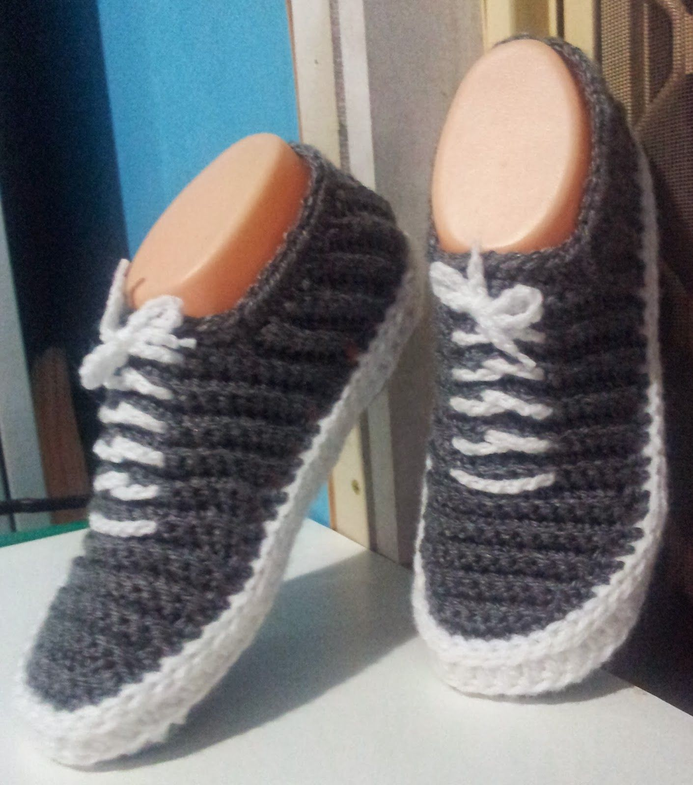 Knit Or Crochet Converse Slippers
