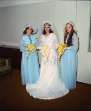 bride and bridesmaids approx 1970's