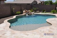 simple and small pool with sand bar by presidential pools ...