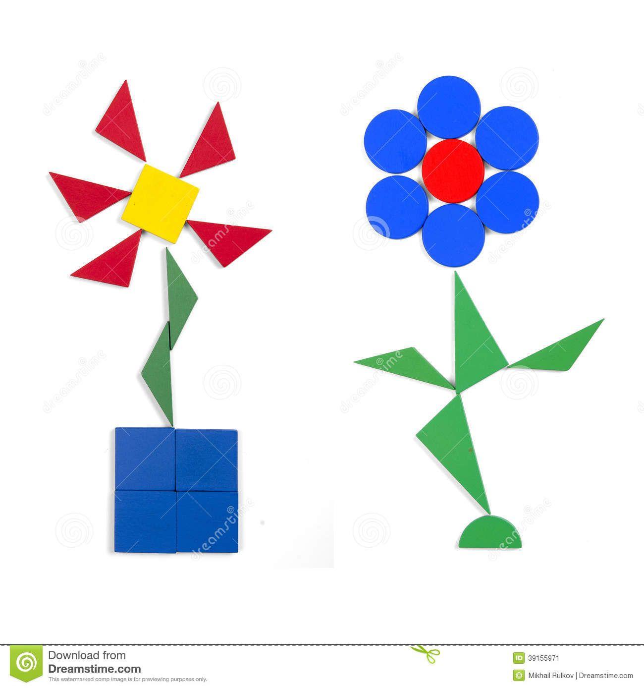 Flor Com Formas Geometricas