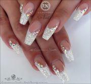 luminous nails 26 beauty 2c gold coast qld. white christmas nail. xmas nails. wedding