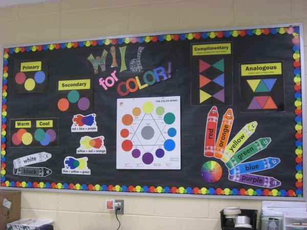 Color Theory Elementary Art Bulletin Boards