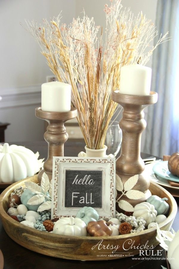 Coastal Casual Fall Tablescape On A Budget Casual Fall