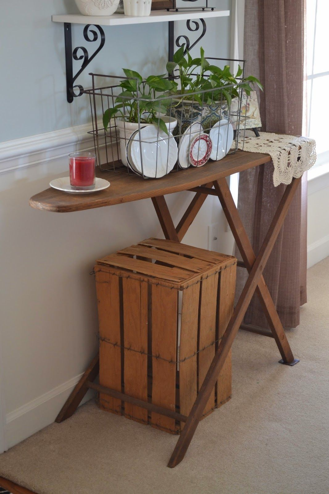 chair step stool ironing board swivel knoll antique furniture