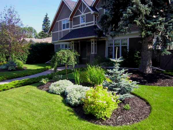 A Simple Yet Beautiful Front Yard Landscape Design With Low