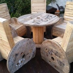 Spool Chair For Sale Desk Pink Chairs And Table From Reclaimed Materials   Furniture Ideas Pinterest ...
