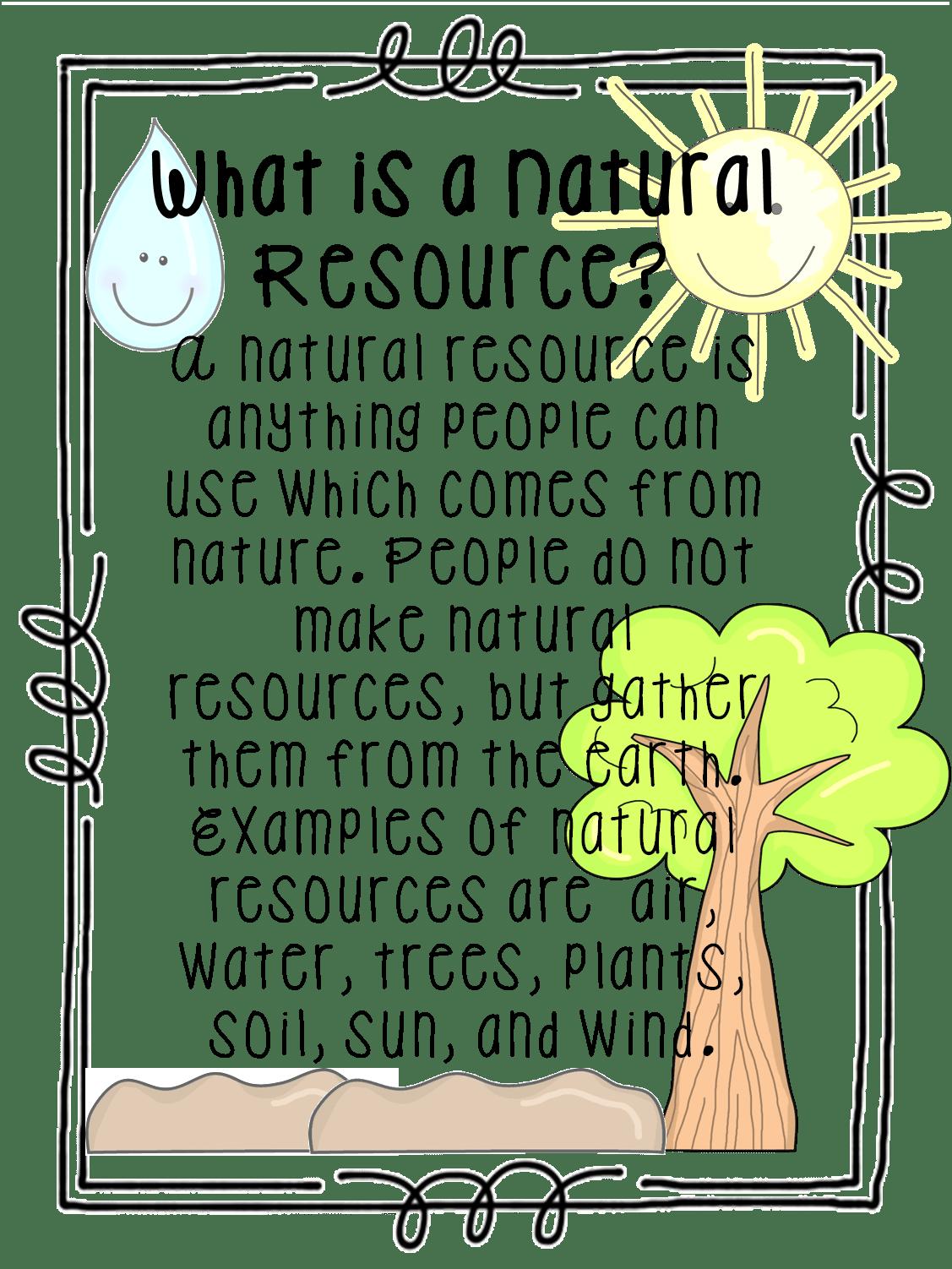 Natural Resources Worksheets
