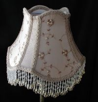 Vintage Table Lampshade - Victorian Lamp Shade - Beaded ...