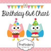 Birthday Chart: Owls (Editable)   Birthday charts, Owl and ...