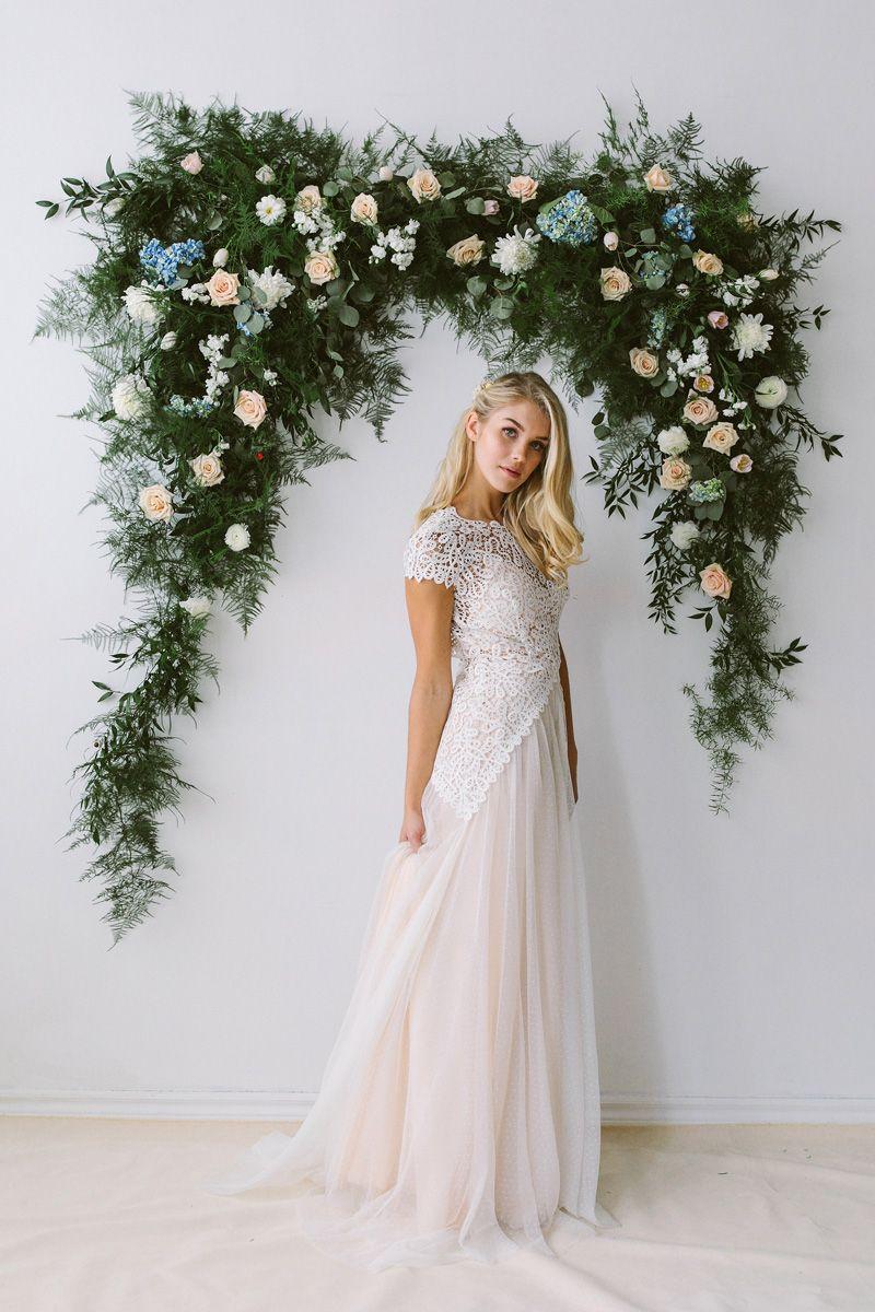 Abigail Of Gardenia Wedding Dress With Short Sleeves Abigail Of