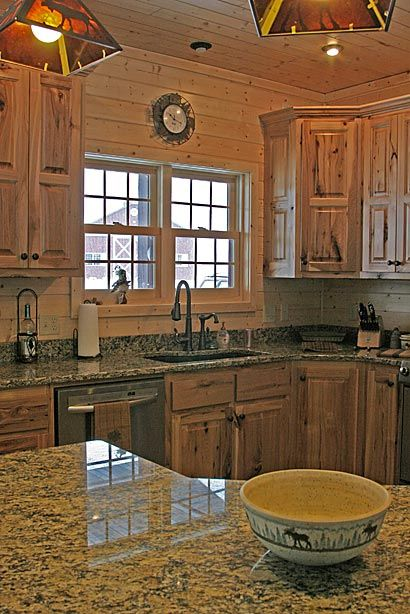 refinishing kitchen countertops island with cooktop rustic hickory cabinets | ... bath oak