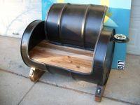 Oil drum recycled into seating  Randommization | Steel ...