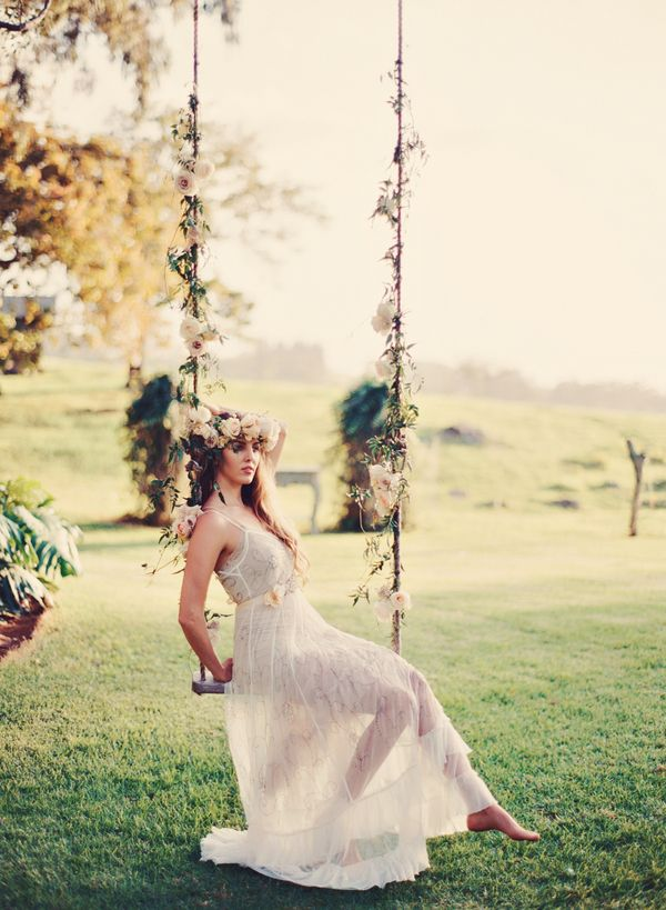 Romantic Floral Tree Swing  Swing photography Swings and