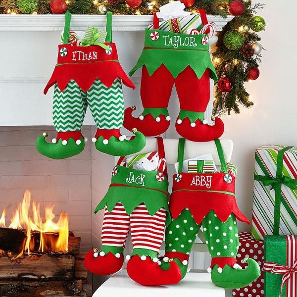 Jingle Bell Elf Pants Personalized Stocking Elves