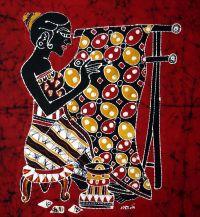 Indonesia Ethnic Decorative Wall Hanging Folk Art, Batik ...
