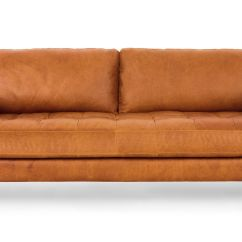 Modern Brown Leather Sofa King Concerto Set Tan Italian Article Sven