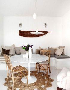 Step inside  stylist   airy cottage interior design inspirationinterior also white marble throw pillows rh pinterest