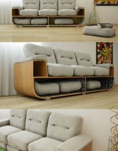 Brazilian designer to design  sofa with storage function wooden sofawooden furnituredesign also live edge bed frame beds pinterest awesome furniture and posts rh