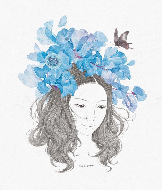 Animal Print Wallpaper For Bedrooms Blue Flower Drawing Talltree Drawing Pinterest